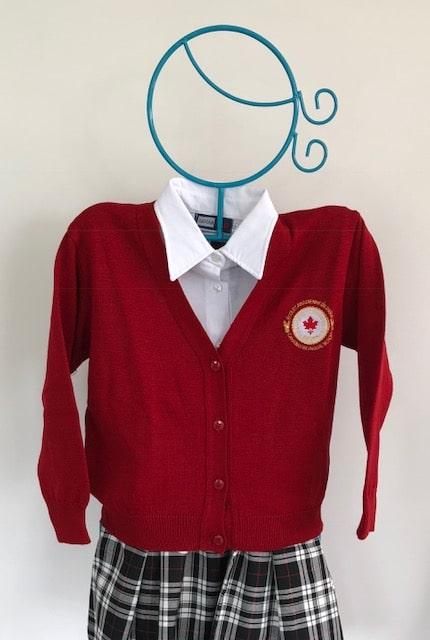 Cardigan rouge-2491
