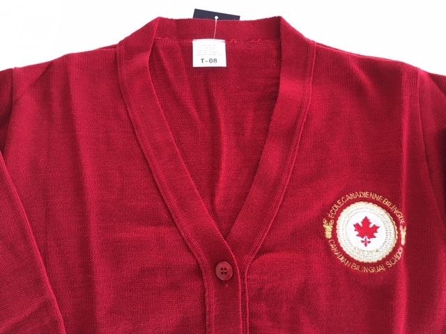 Cardigan rouge-2493